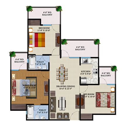 Supertech Ecovillage Buy 2 3 Bhk Apartments In Greater Noida
