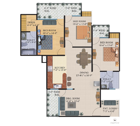 Palm Greens floor plan