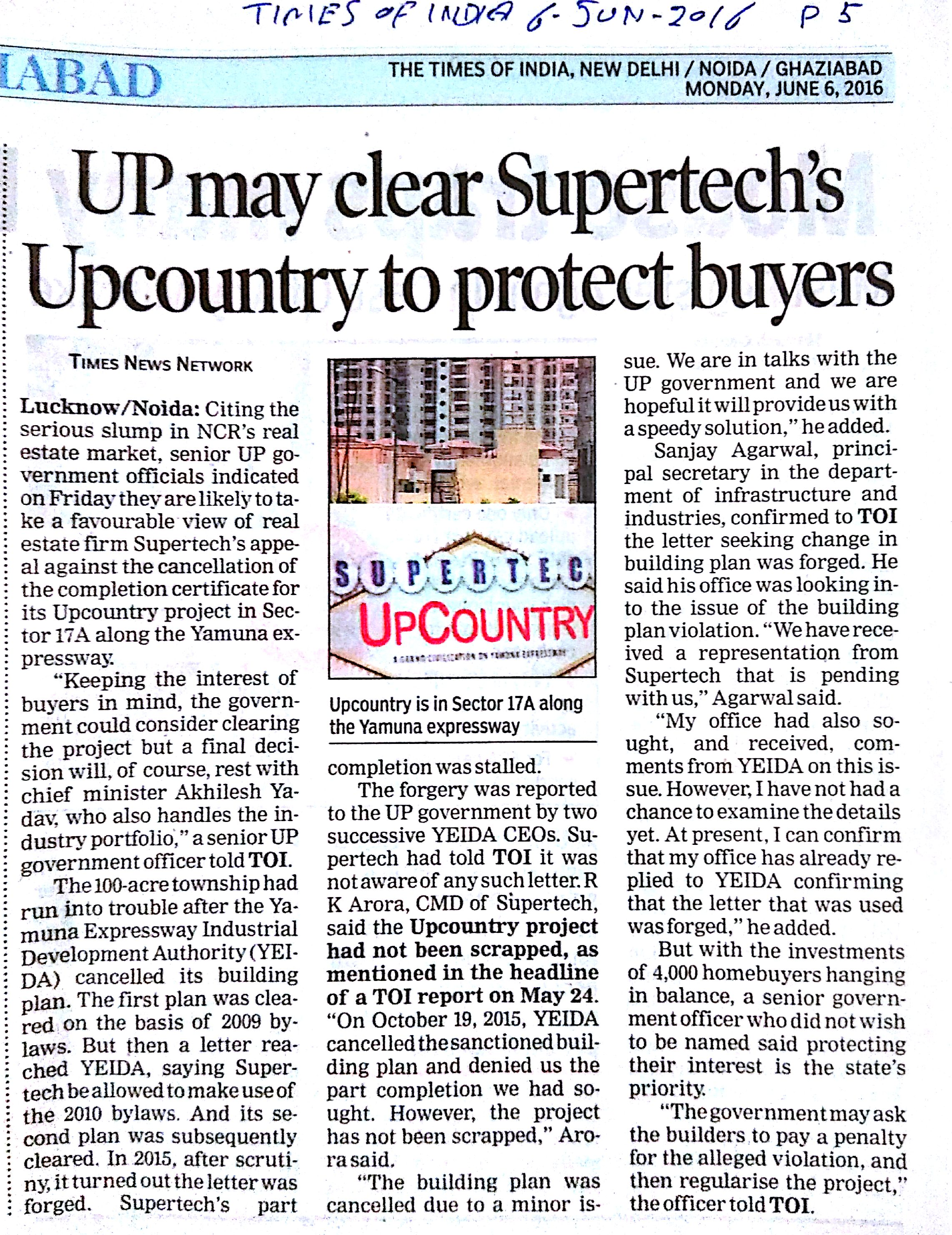 Press Coverage: Supertech Limited
