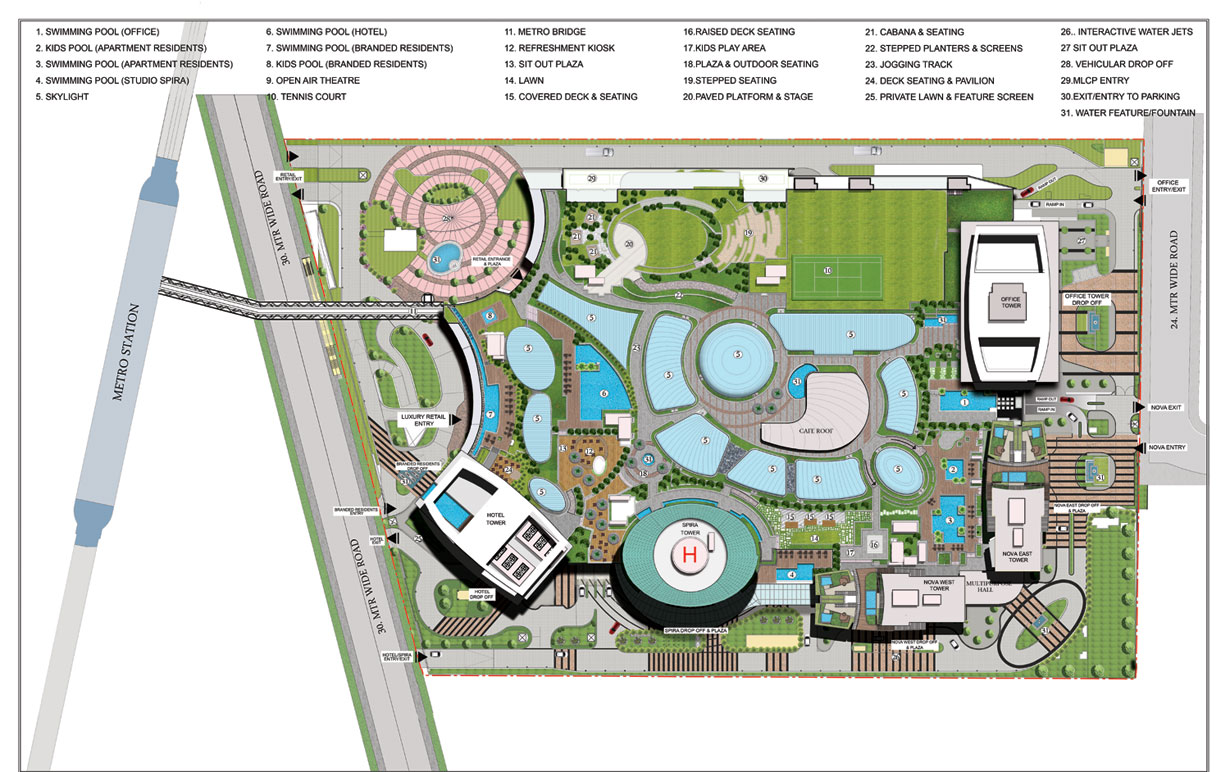 Supernova Site Plan