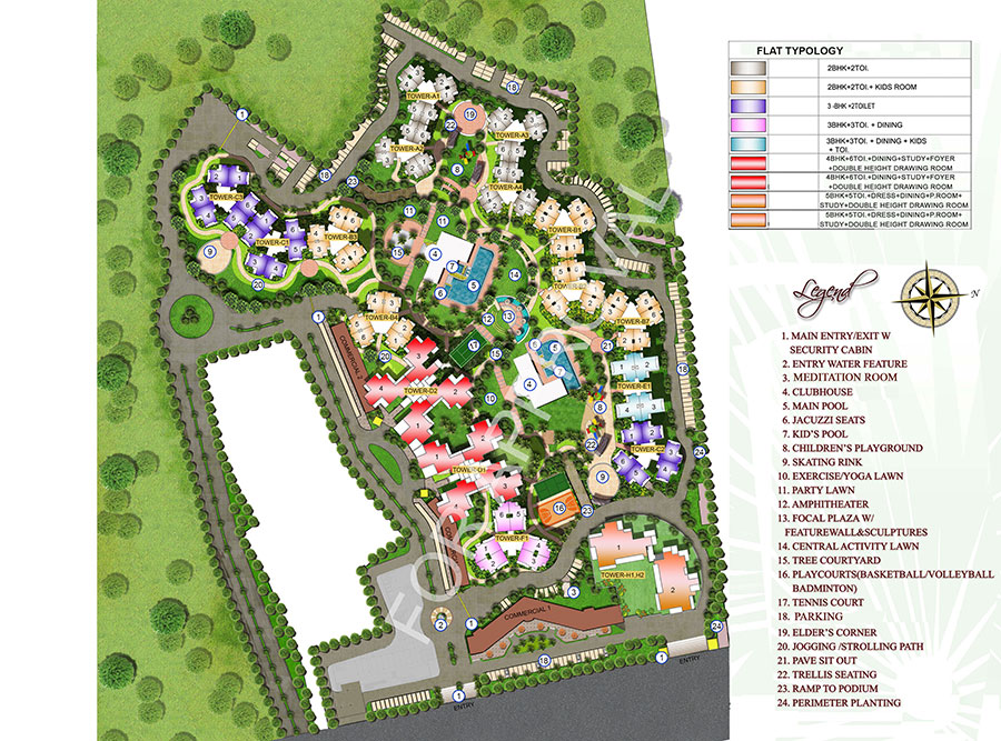 Supertech the romano 2 bhk flats in sector 118 noida for How to read construction site plans